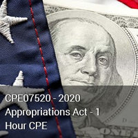 CPE07520 - 2020 Appropriations Act - 1 Hour CPE