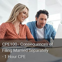 CPE100 - Consequences of Filing Married Separately - 1 Hour CPE