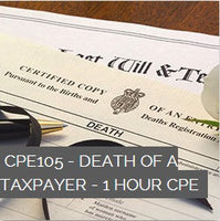 CPE105 - Death of a Taxpayer - 1 Hour CPE