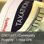 CPE11017 - Community Property - 1 Hour CPE
