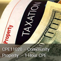 CPE11020 - Community Property - 1 Hour CPE
