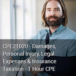 CPE21020 - Damages, Personal Injury, Legal Expenses & Insurance Taxation - 1 Hour CPE