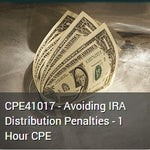 CPE41017 - Avoiding IRA Distribution Penalties - 1 Hour CPE