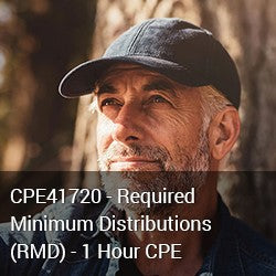 CPE41720 - Required Minimum Distributions (RMD) - 1 Hour CPE