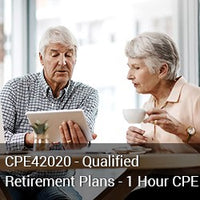 CPE42020 - Qualified Retirement Plans - 1 Hour CPE