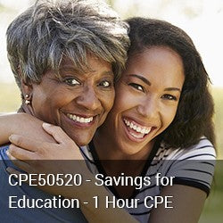 CPE50520 - Savings for Education - 1 Hour CPE
