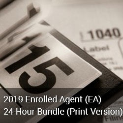 2019 Enrolled Agent (EA) 24-Hour Bundle (Print Version)