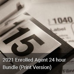 2021 Enrolled Agent (EA) 24-Hour Bundle (Print Version)