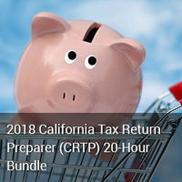 2018 California Tax Return Preparer (CRTP) 20-Hour Bundle