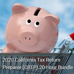 2020 California Tax Return Preparer (CRTP) 20-Hour Bundle