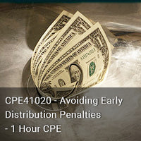 CPE41020 - Avoiding Early Distribution Penalties - 1 Hour CPE