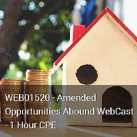WEB01520 - Amended Opportunities Abound WebCast - 1 Hour CPE