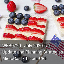WEB0720 - July 2020 Tax Update and Planning Strategies MicroCast - 1 Hour CPE