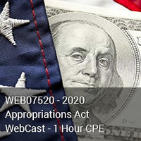 WEB07520 - 2020 Appropriations Act WebCast - 1 Hour CPE