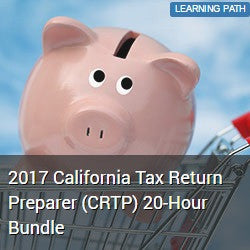 2017 California Tax Return Preparer (CRTP) 20-Hour Bundle