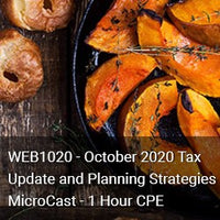 WEB1020 - October 2020 Tax Update and Planning Strategies MicroCast - 1 Hour CPE