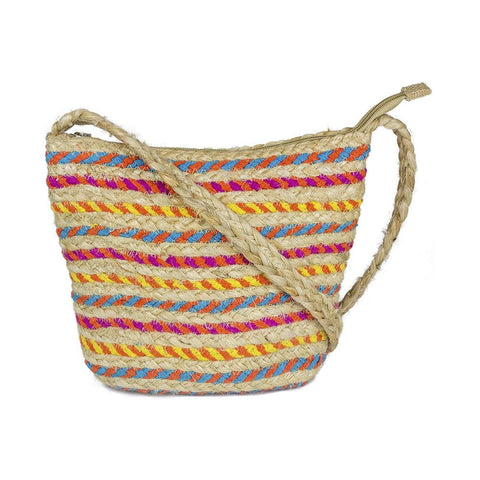 Straw Pattern Crossbody Bag