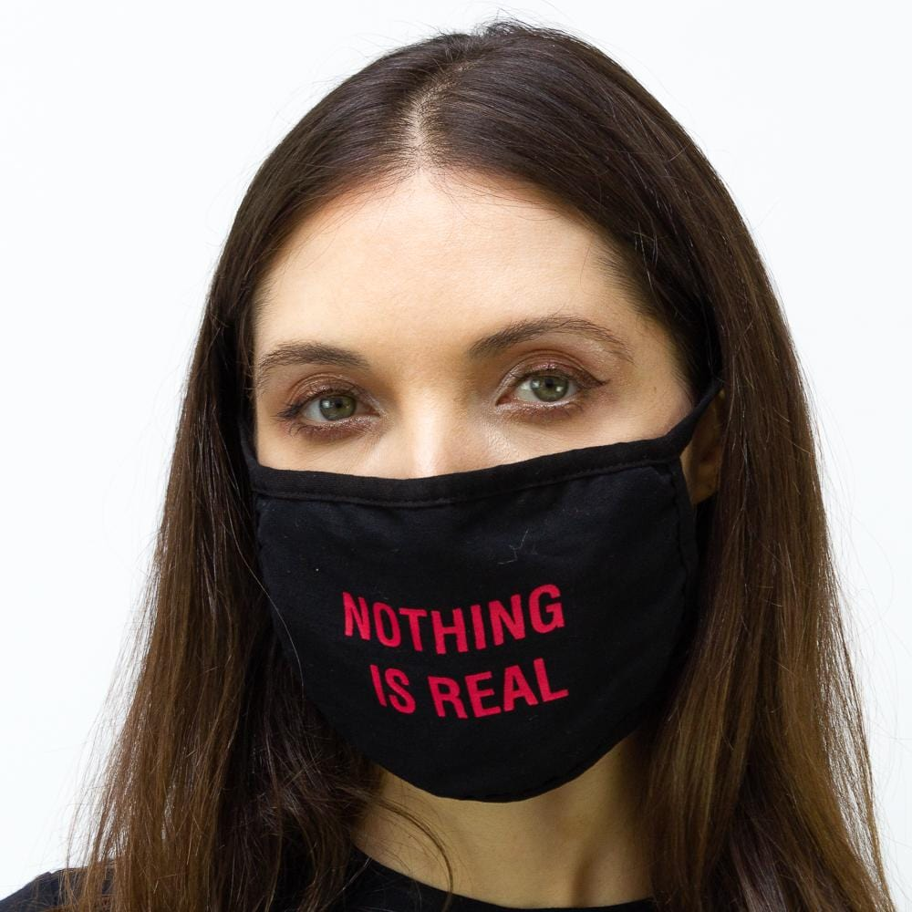 "2 PC ""Nothing Is Real"" Verbage Face Mask Pack"