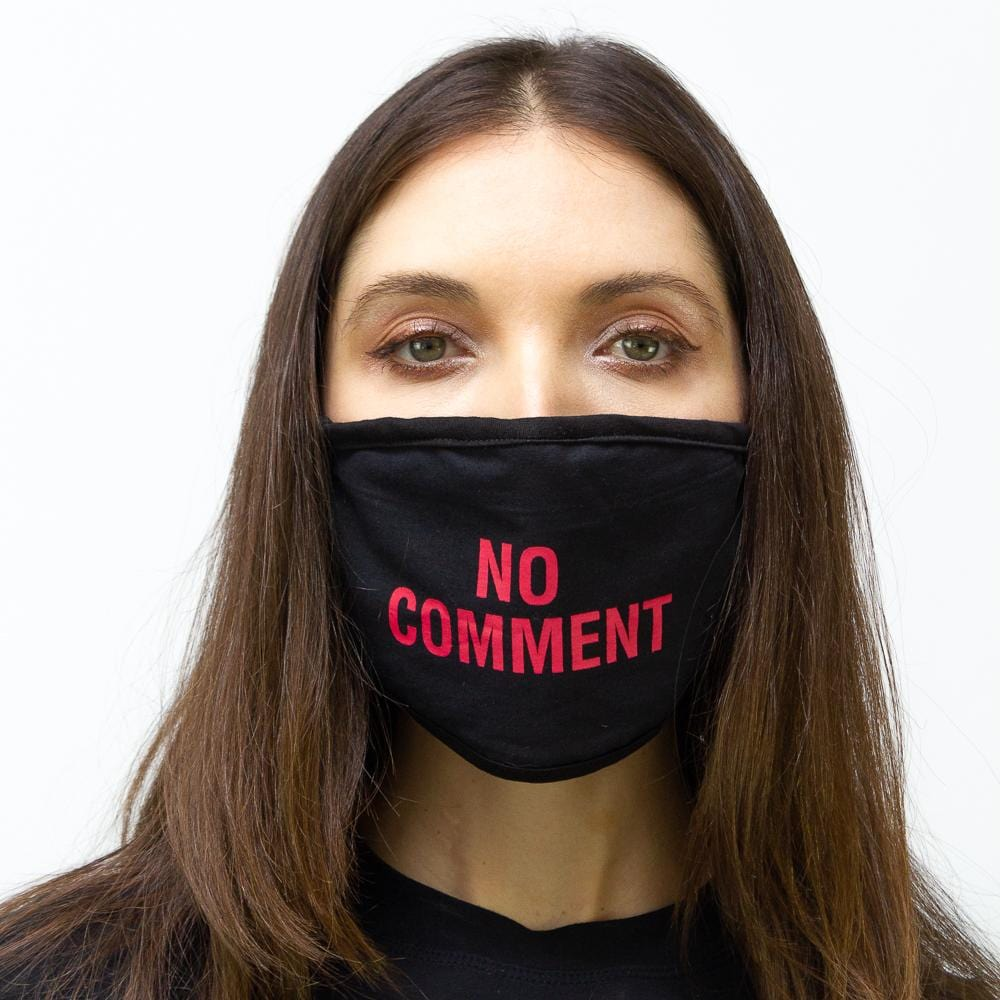 "2 PC ""No Comment Verbage"" Face Mask Pack"