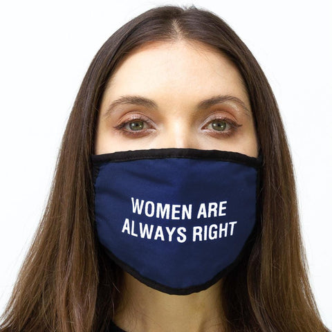 "2 PC ""Women are Always Right"" Verbage Face Mask Pack"