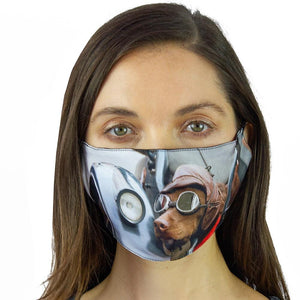 Dog Graphic Printed Face Mask
