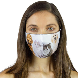 Pets Printed Graphic Face Mask