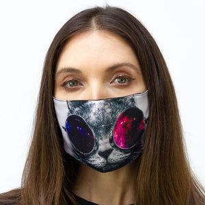 Galaxy Cat Graphic Printed Face Mask