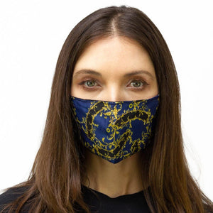 Navy & Gold Chain Printed Face Mask