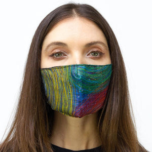Rainbow Sketch Line Printed Face Mask
