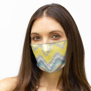 Yellow Chevron Printed Face Mask