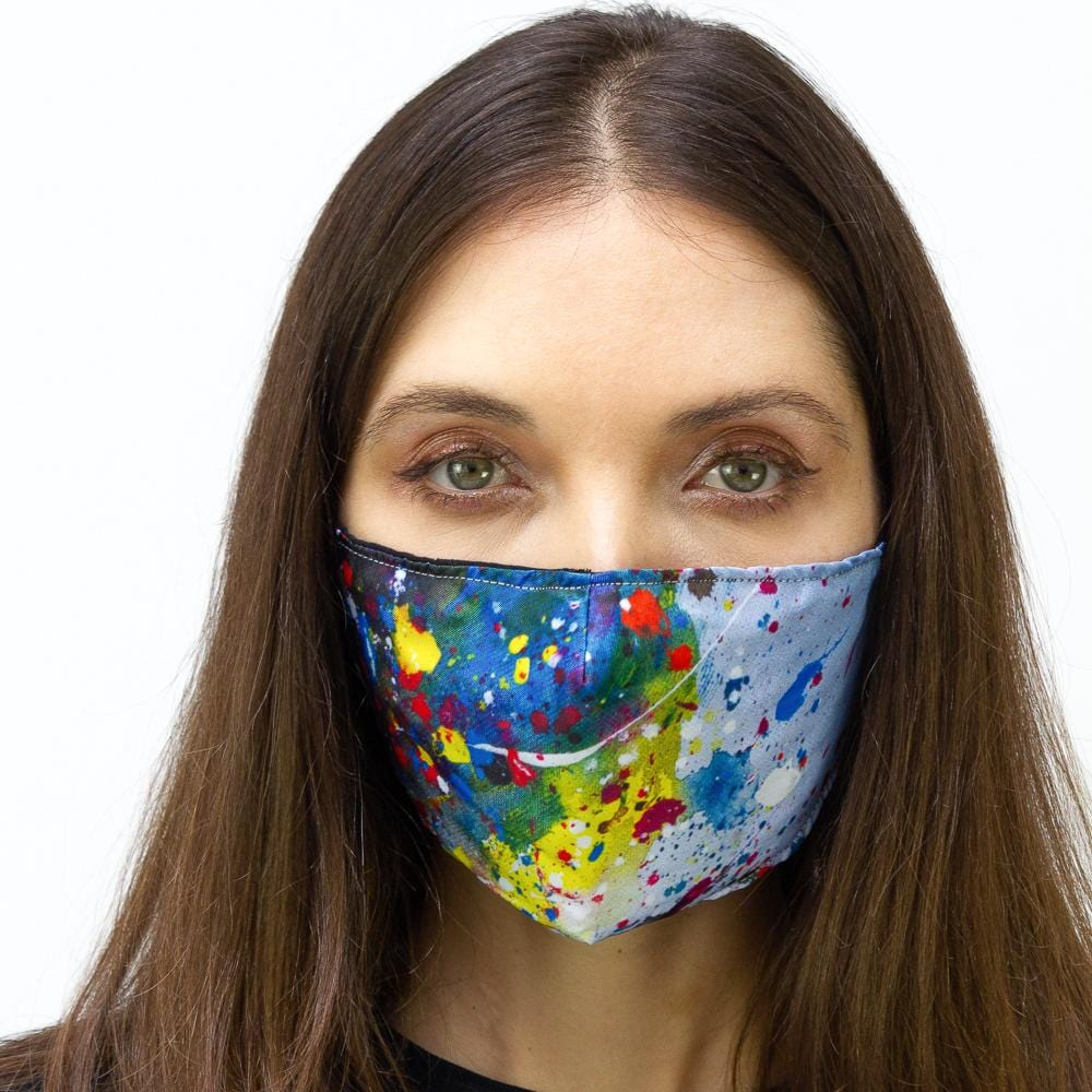 Splatter Paint Drops Printed Face Mask