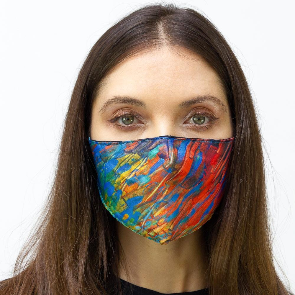 Oil Paint Strokes Printed Face Mask