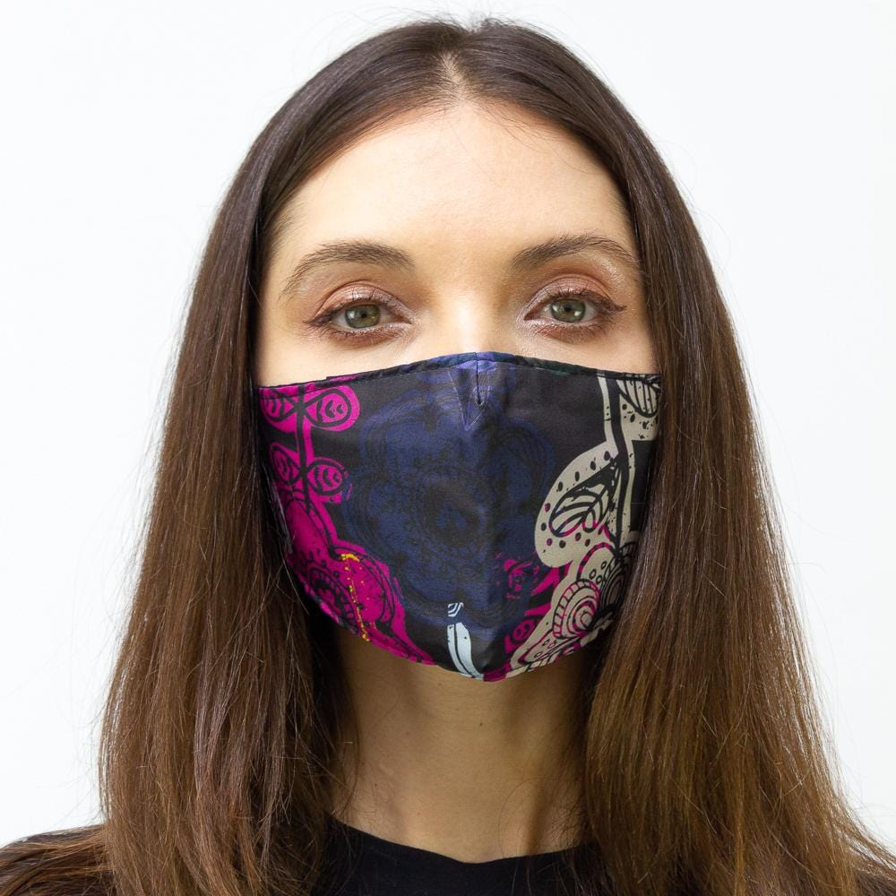 Floral Sketch Printed Face Mask