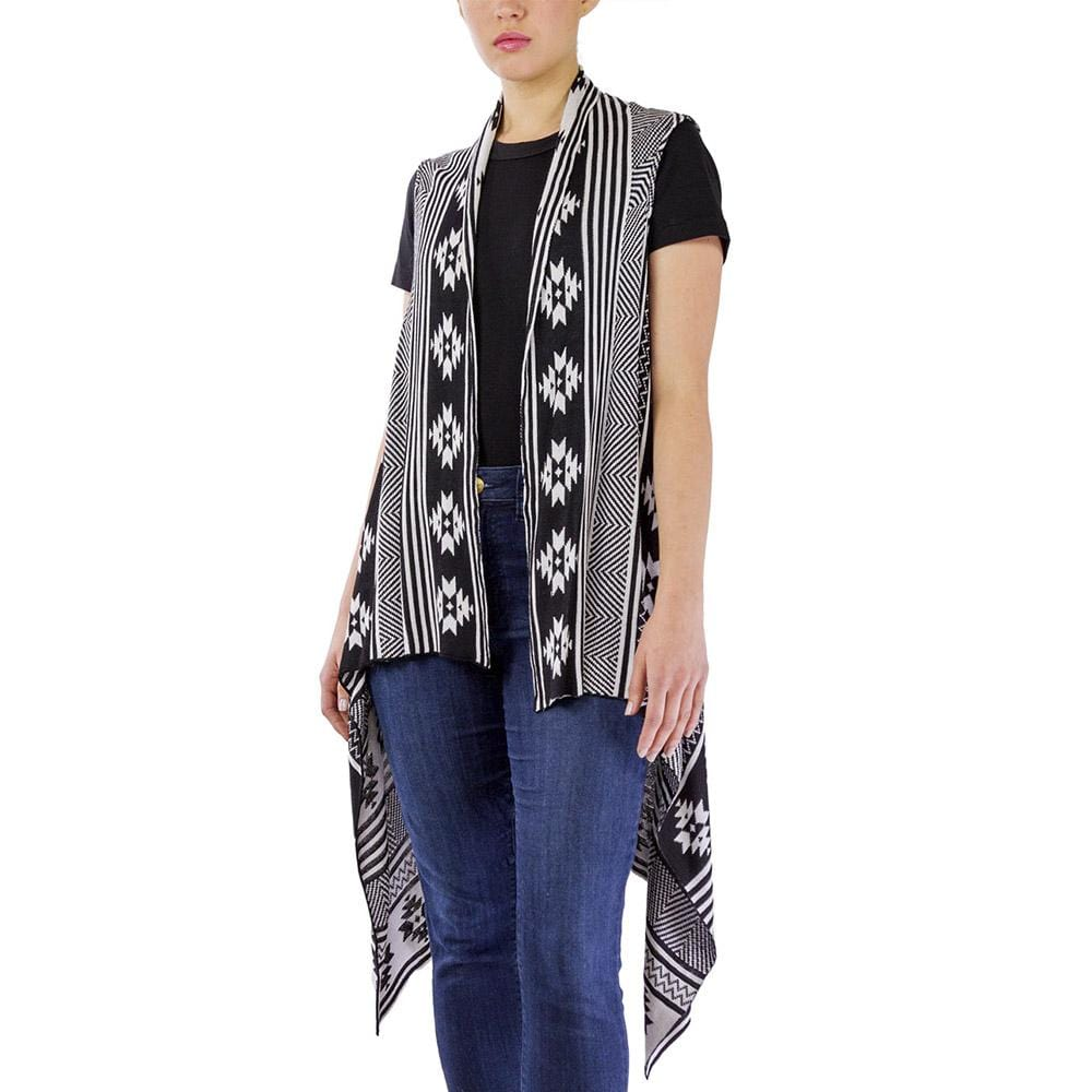 Tribal Print Tunic Vest