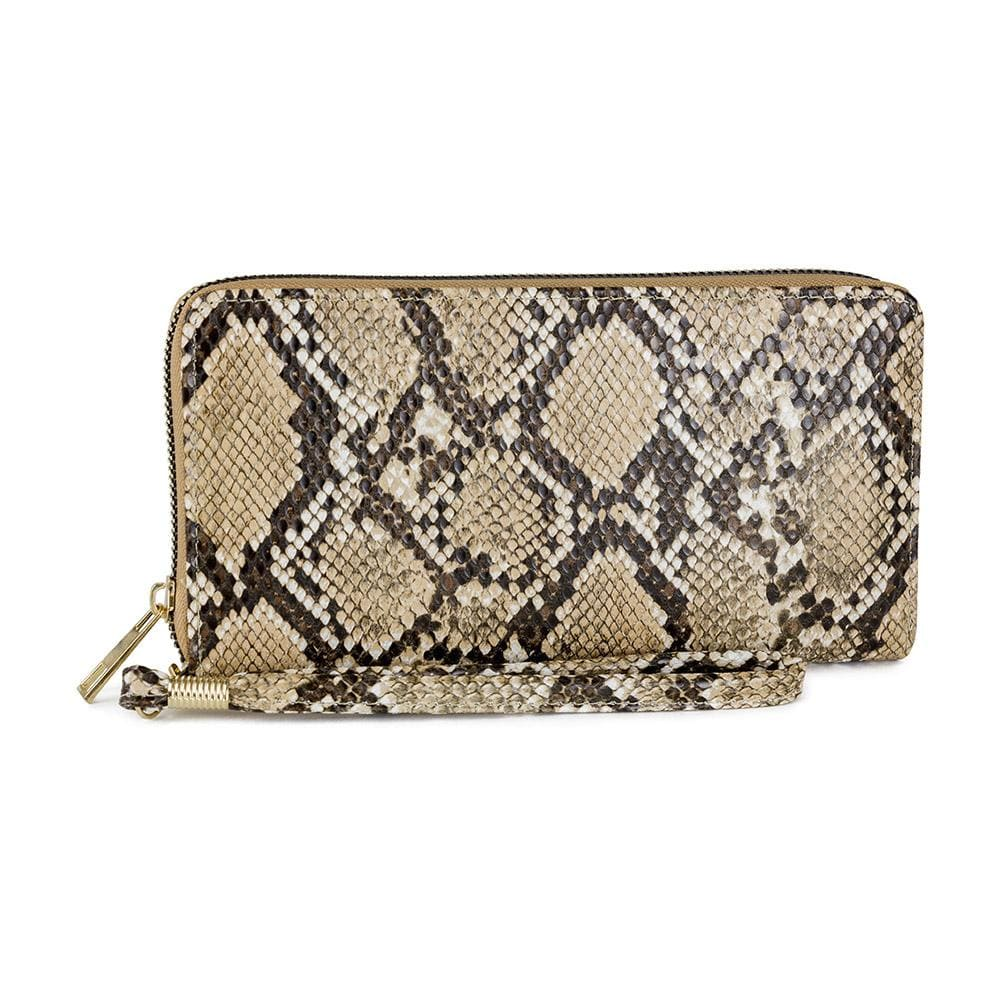 Snakeskin Single Zip Wallet