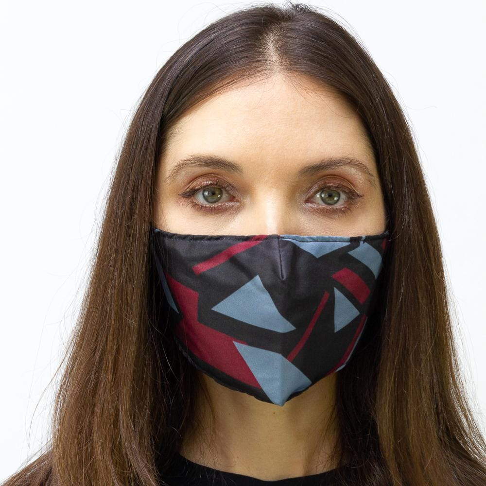 Triangular Geometic Printed Face Mask
