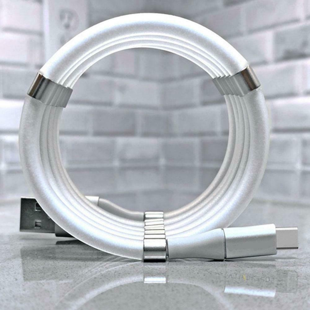 Magic Rope Magnetic Charging cable  for Android IOS Type C Micro USB  fast charging