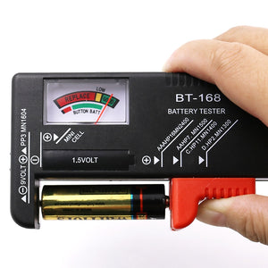 AA/AAA/C/D/9V/1.5V battery voltage tester