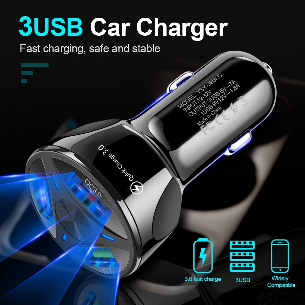 USB car charger quick charge 18W