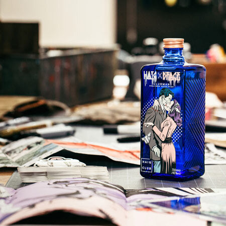 Haig Club Clubman D*Face Artist Series Bottle on a table