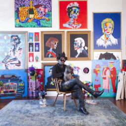 Haig Club Clubman Bradley Theodore Artist in the Studio