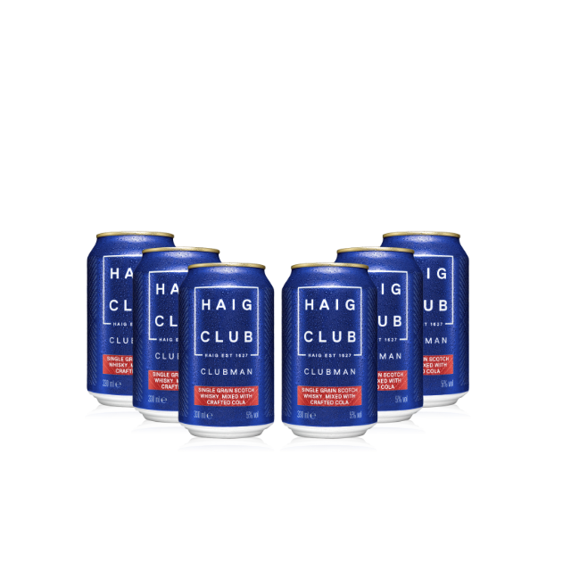 Haig Club Clubman & Crafted Cola Ready To Drink 6 cans transparent background