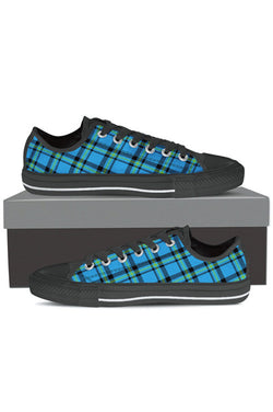 Vintage Blue Tartan - Women's Low Tops