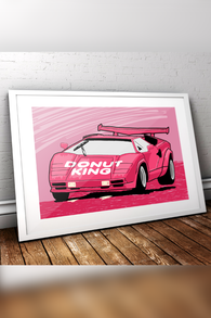 Donut King Countach Print