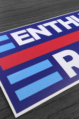 Enthusiast Racing Sticker