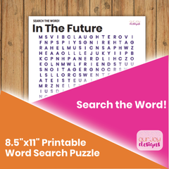 In the Future Printable Word Search Puzzle