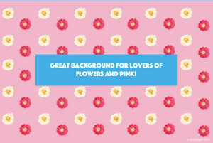 Pink and White Floral-Zoom Background-Our Joy Designs