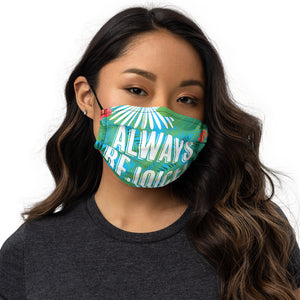 Tropical Always Rejoice Premium Face Mask with Nose Wire + Filter Pocket-JW Gifts-Our Joy Designs