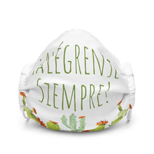 Load image into Gallery viewer, Alégrense Siempre! Cactus Premium Face Mask-JW Gifts-Our Joy Designs