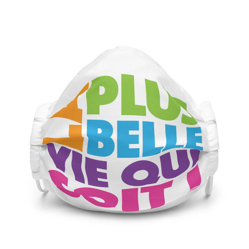 FRENCH La Plus Belle Vie Qui Soit Premium Face Mask-JW Gifts-Our Joy Designs